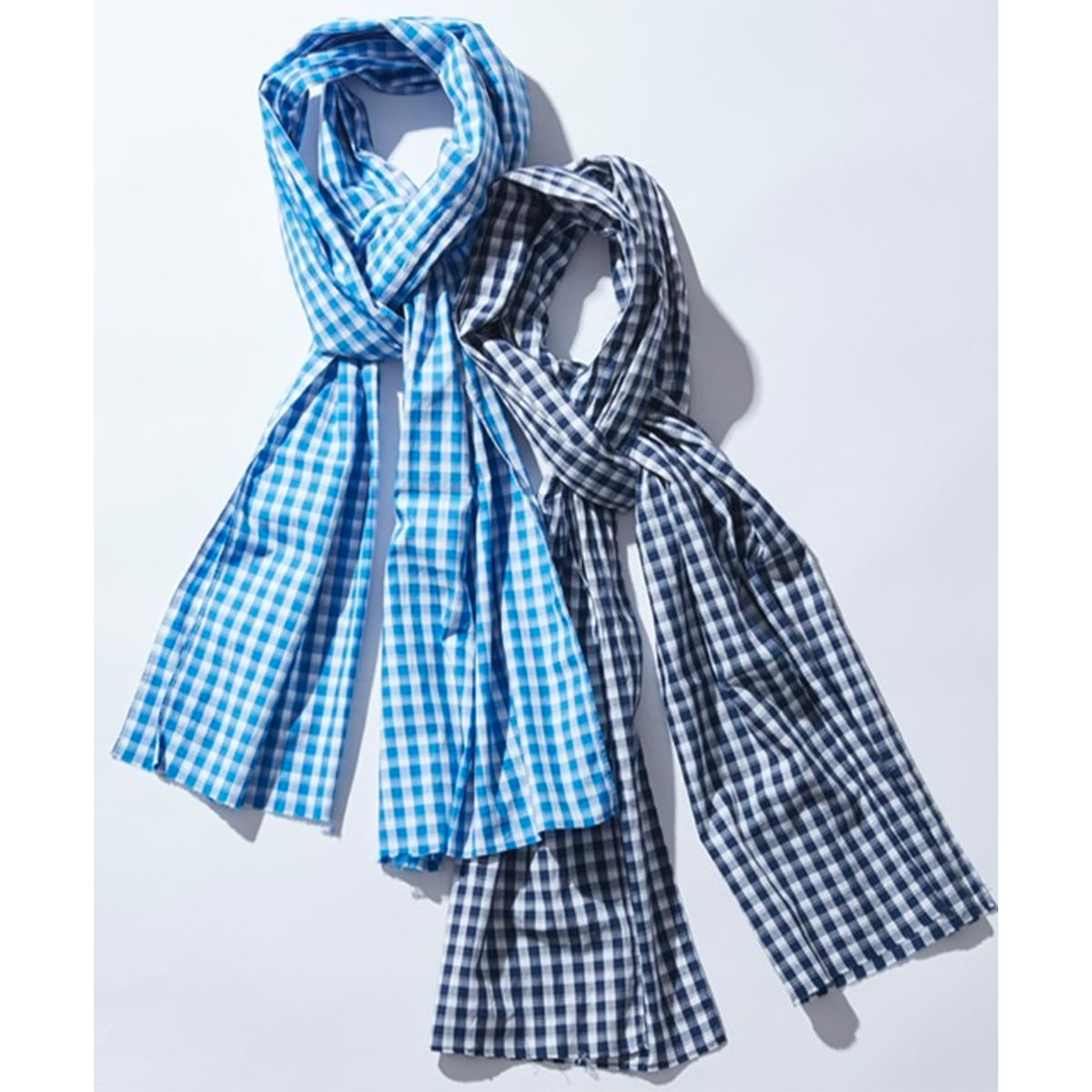 GINGHAM CHECK STOLE