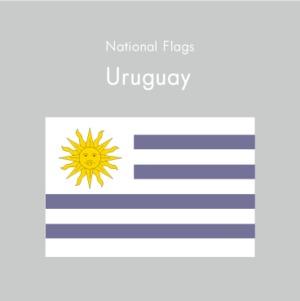 国旗ステッカー ウルグアイ