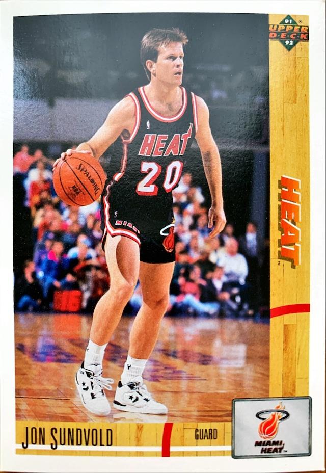 NBAカード 91-92UPPERDECK Jon Sundvold #291 HEAT