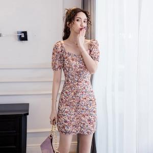 かわいい 花柄 おしゃれ 夏限定 ミニドレス ワンピース MY2012