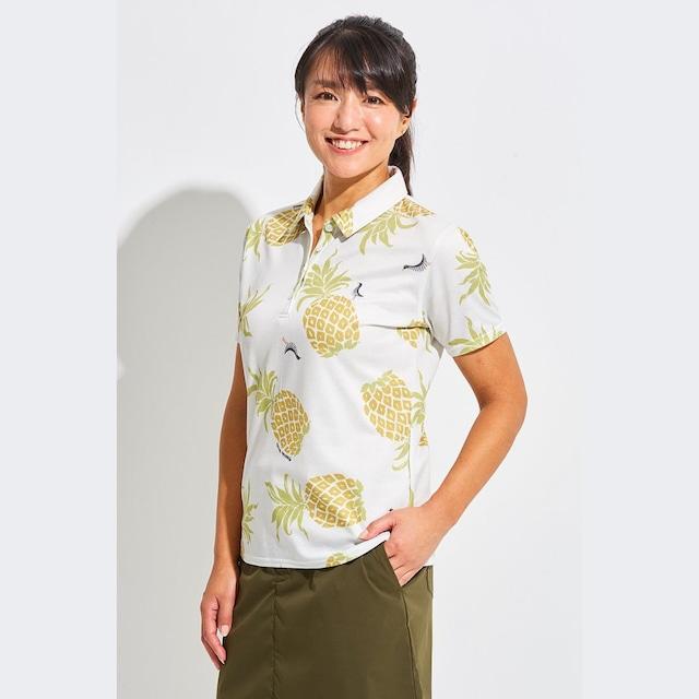 Tee-chi レディース サンゴクロスポロシャツ <PAIKAJIコラボ パイナップルTee-chiくん2020><MULTI>