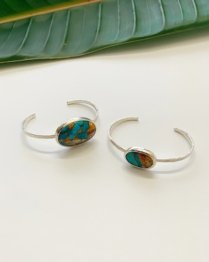 Turquoise Silver Bangle / small