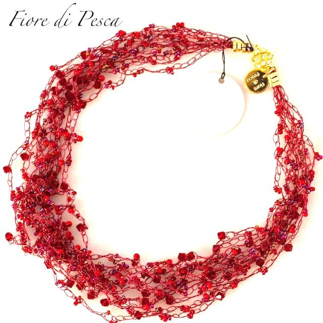 Croshet (Red) Necklace