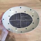 『高江洲陶磁器』 楕円皿(大)ストライプ 青