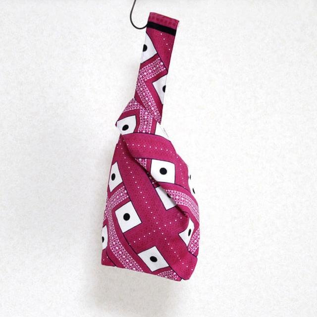カンガのノットバッグ・Small アフリカ布バッグ