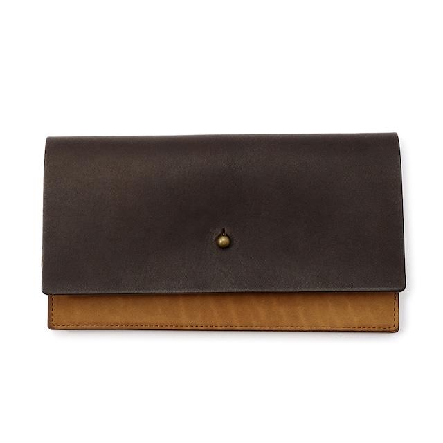 forme Long wallet Liscio dark brown