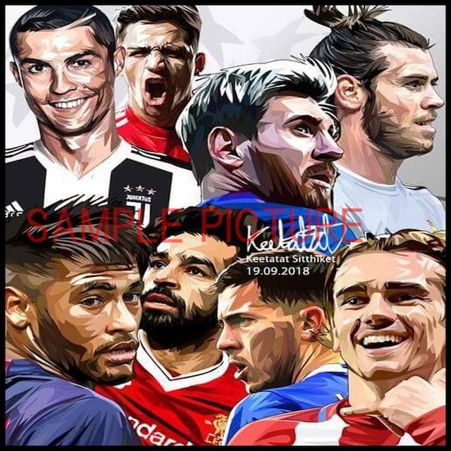サッカーグラフィックアートパネル 「craque」 クラッキ サッカースーパースターズ 木製 壁掛け ポスター (001-202)