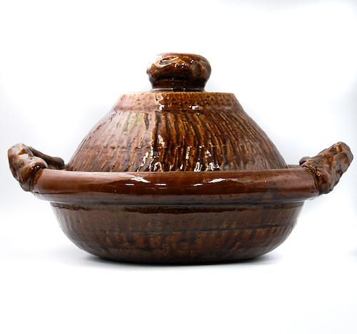 ◆受注生産◆  飴釉すっぽん尺一鍋(深口)