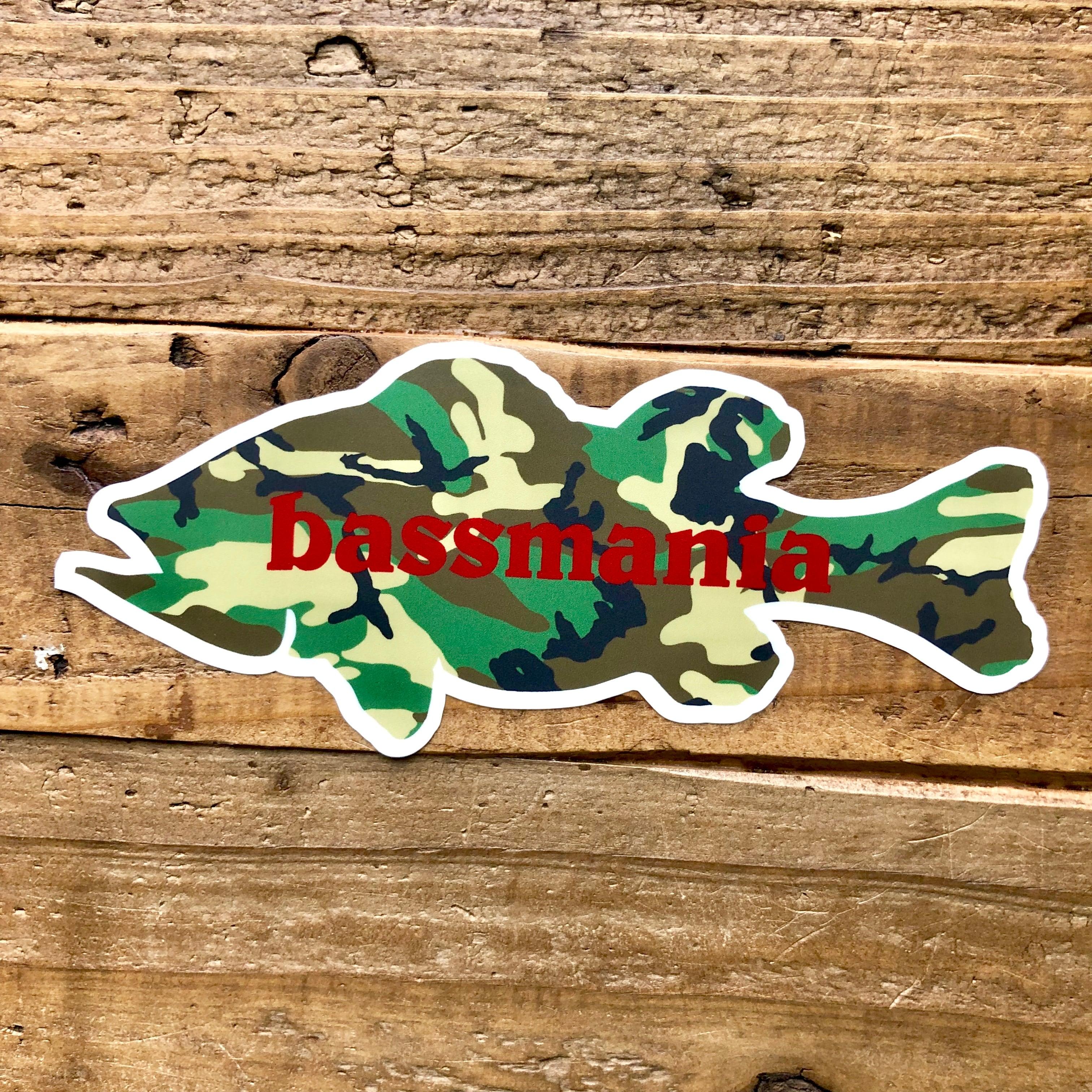 Camouflage BASS sticker