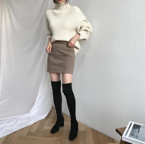 タートルネックセーター(ホワイト)