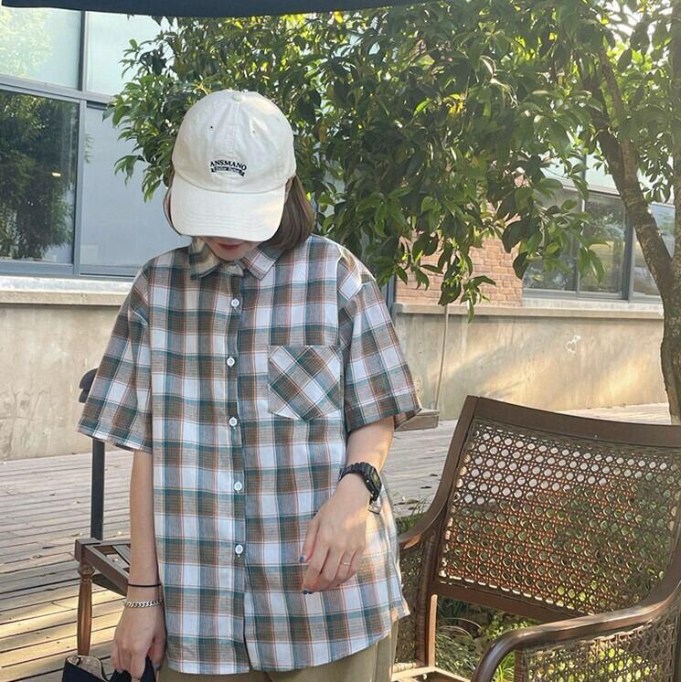 レトロチェックシャツ YH3517