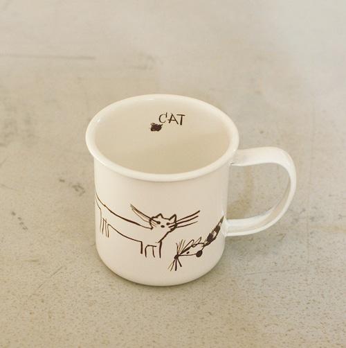 【トラネコボンボン 】ほうろうマグカップ「C柄」