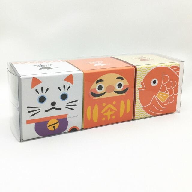 縁起物 箱茶 玉露/玄米茶/ほうじ茶 3点セット