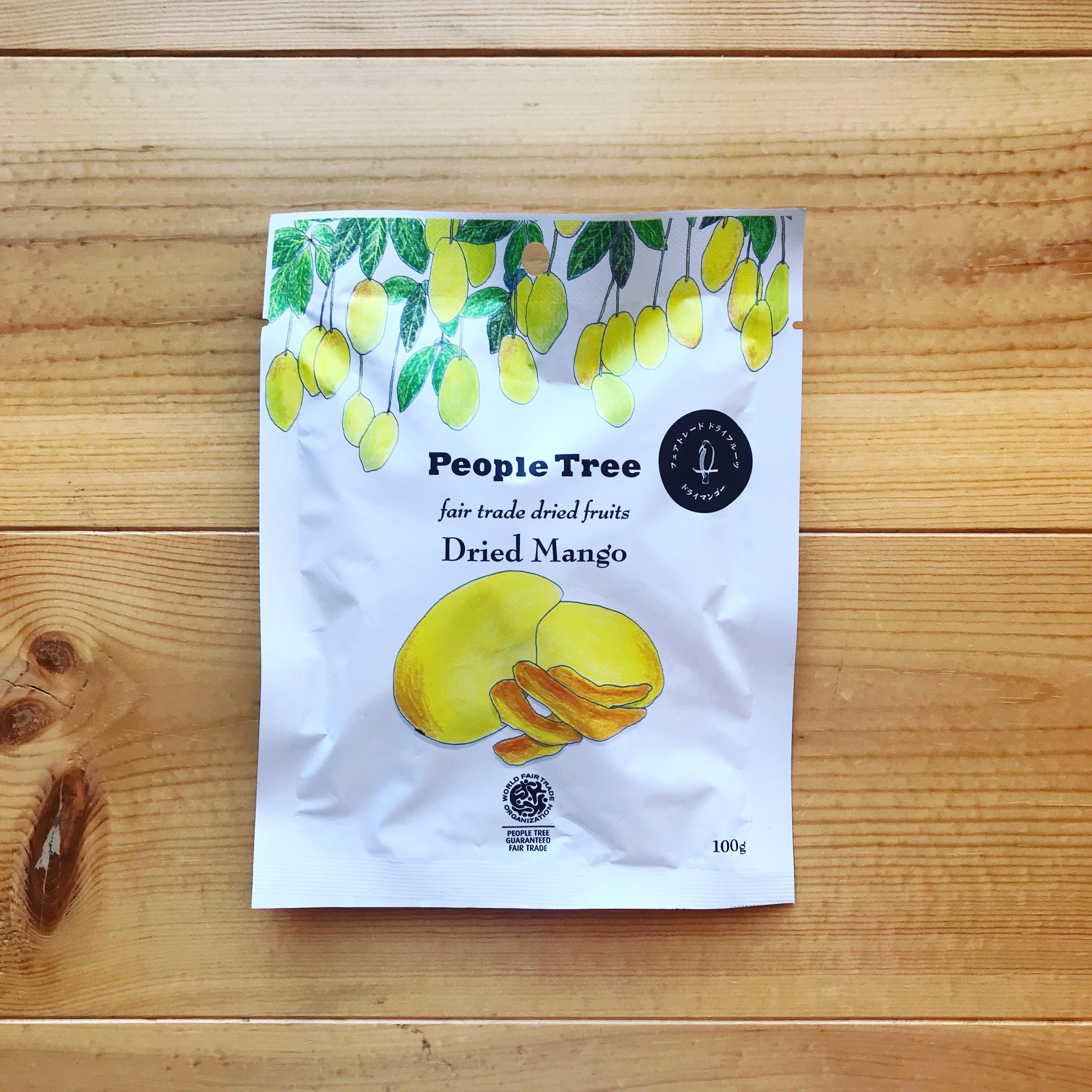 People Tree フェアトレードドライフルーツ プレダのマンゴー 100g