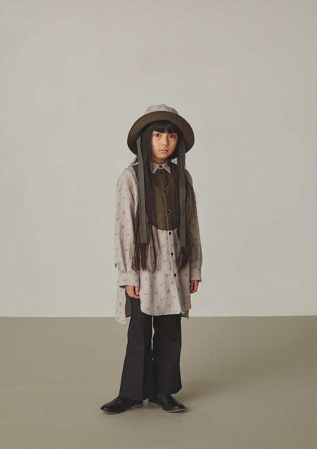 【21AW】GRIS ( グリ )Busom Long Shirt[S / M]Lavender シャツ
