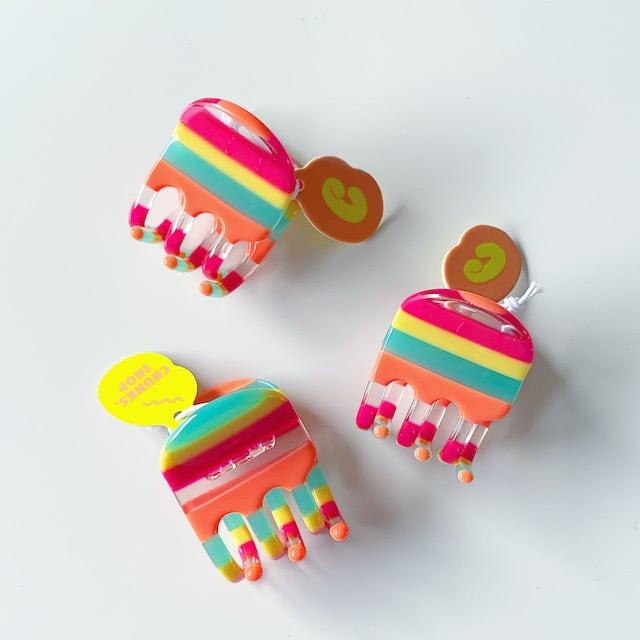 "Chunks ""Mini Claw"" Candy Stripeチャンクス バンスクリップ・ヘアピン"