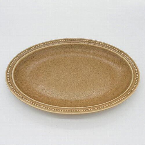 パンとごはんと... (Bread and Rice) RIM DOTS OVAL PLATE (リムドット オーバルプレート) Lサイズ 【モカ】
