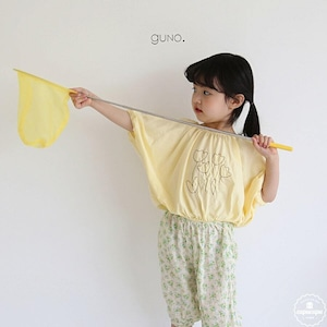 «sold out» guno tulip T 2colors チューリップ刺繍Tシャツ