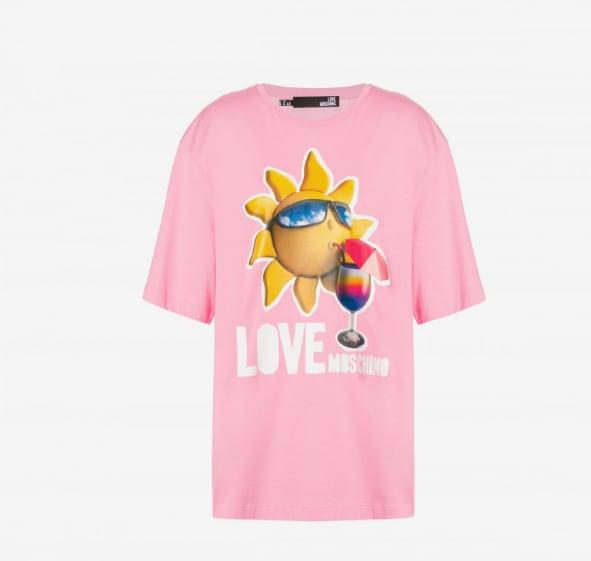 【LOVE MOSCHINO】  太陽 Tシャツ