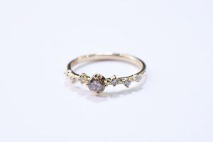 ブラウン ダイヤモンド リング  / 0.203ct / K18YG