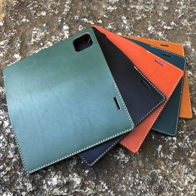 【iPhoneケース】各種対応  手帳型 6カラー ステア オイルスムース ヌメ革 IP-C6