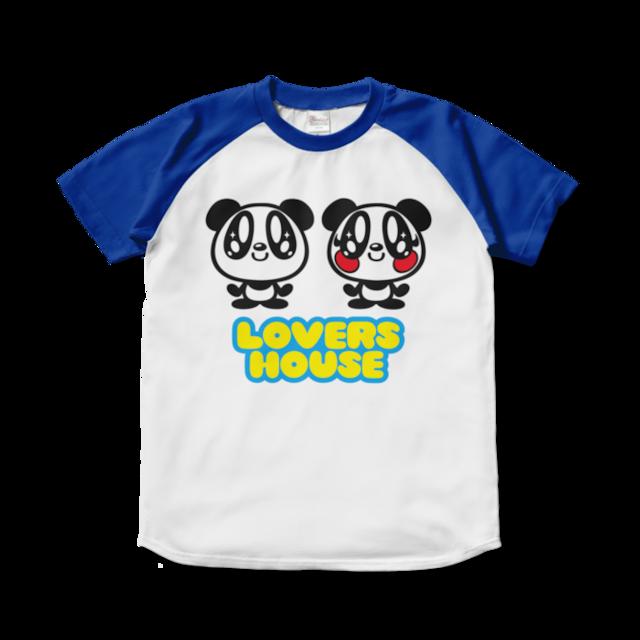 LOVERSHOUSE logo /スーパーラヴァーズラグラン配Tシャツ