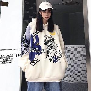 【トップス】韓国系ins原宿風プリントストリート系パーカー42910763