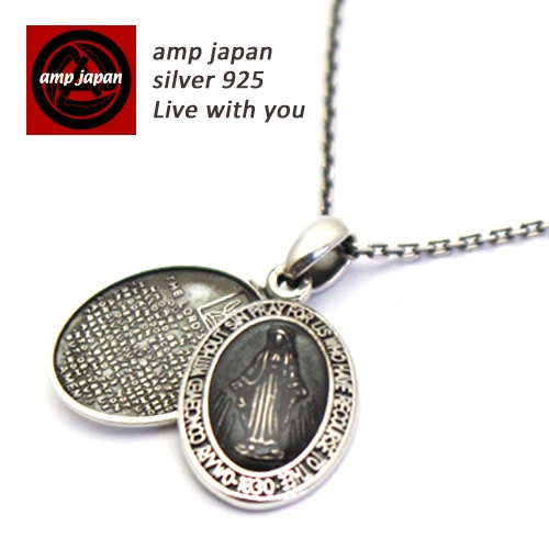 AMP JAPAN/アンプジャパン   スモールロケット樹脂マリアネックレス 『 Small Mary Necklace -Black Epoxy- 』 17AAS-102BK