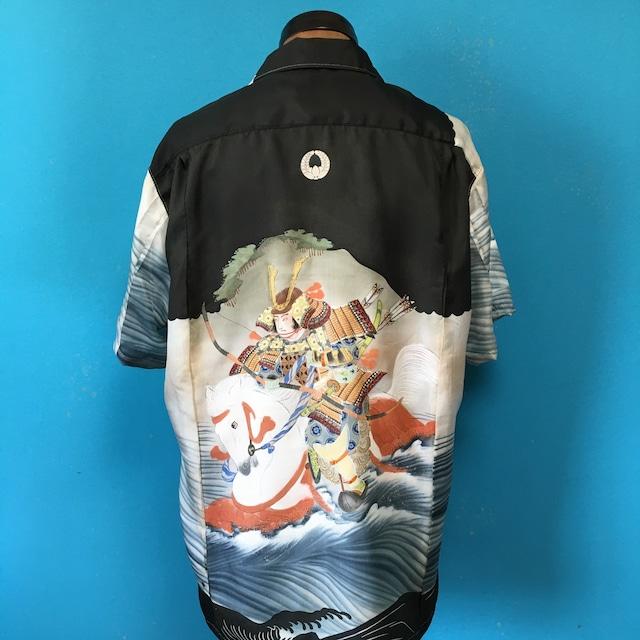 Vintage 正絹産着 戦国武将のアロハシャツ