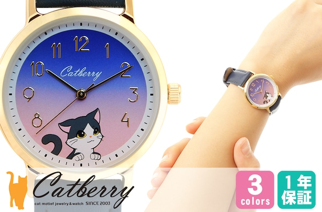 腕時計 空を見上げる猫