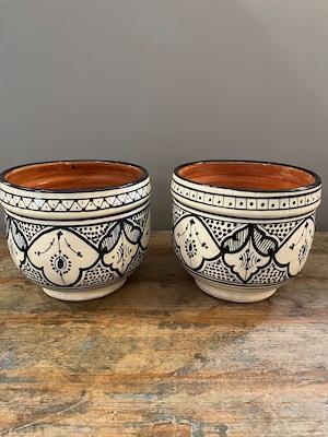 北アフリカサフィ陶製植木鉢 ぷっくり Mサイズ