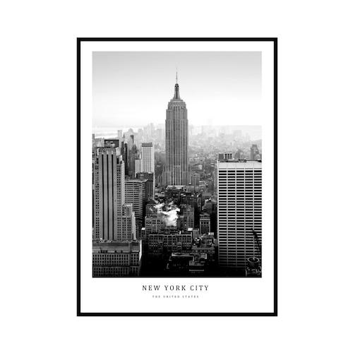 """NEW YORK CITY"" US - POSTER [SD-000591] A4サイズ フレームセット"
