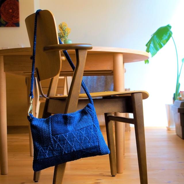 うしじま縫製 | 武州正藍染 パッチワークサコッシュ 二重刺子