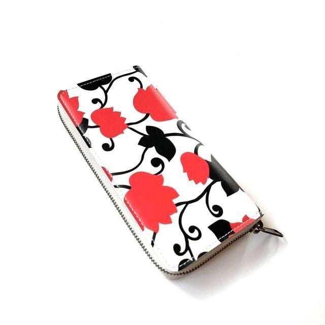【ハシモト産業 x pink india】北欧デザイン 牛革ラウンド財布 | matthew red