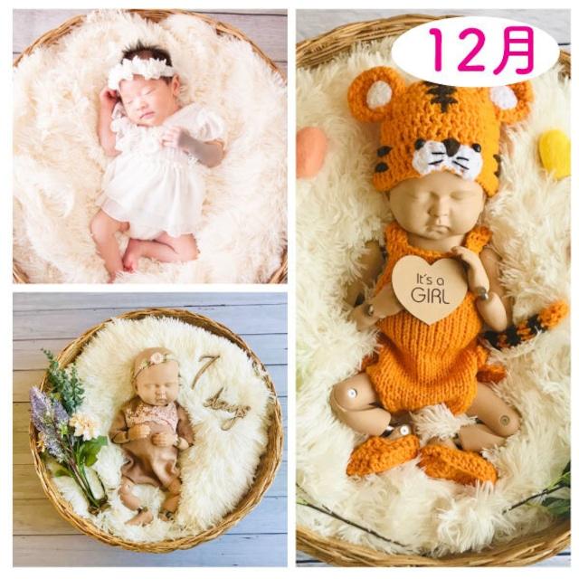年賀状♡2022年干支♡女の子コーデセット<12月ご出産予定日のお客様ご予約枠>