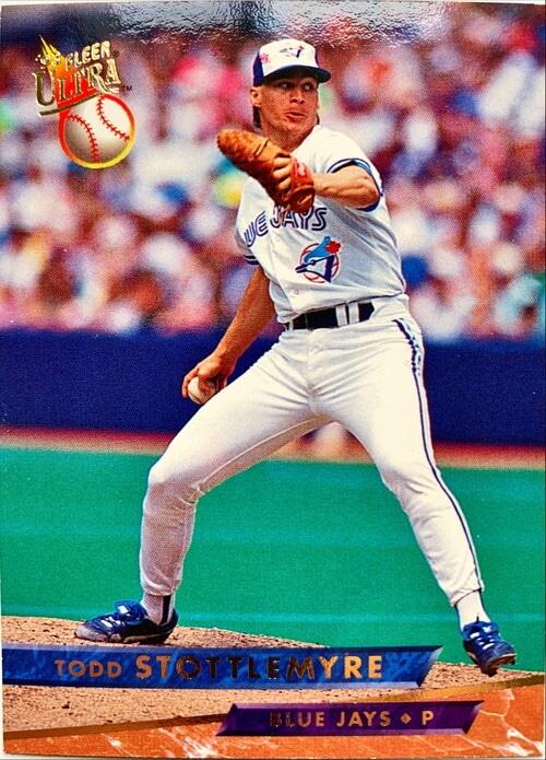 MLBカード 93FLEER Todd Stottlemyre #293 BLUE JAYS