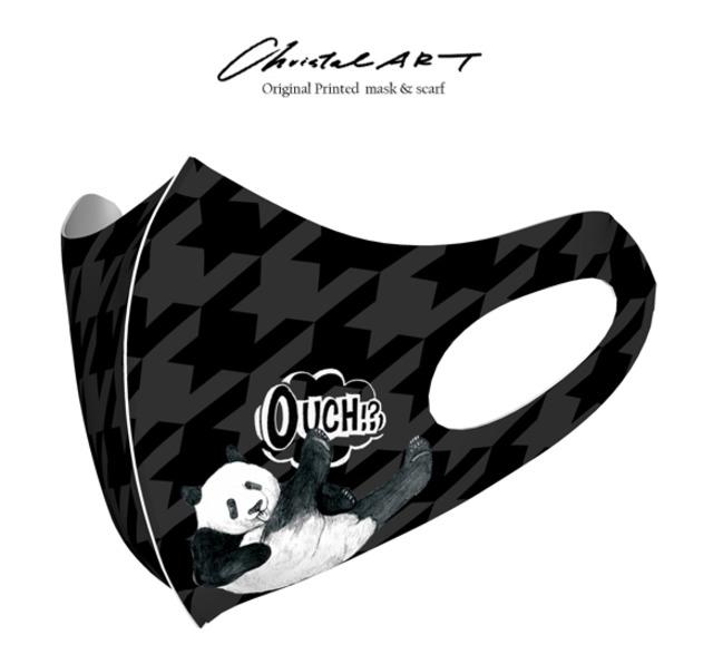 ◆受注生産◆オリジナルプリントマスク◆おてんばシャンシャン柄