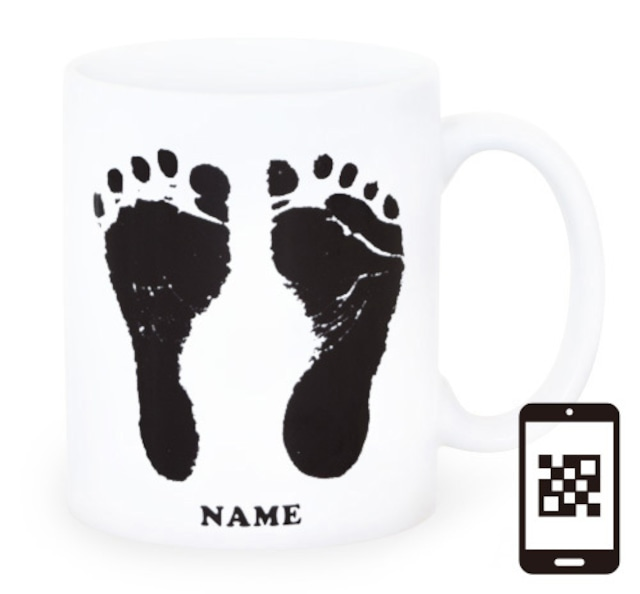 ai mug-white   A-type (BLACK) QRコード付き