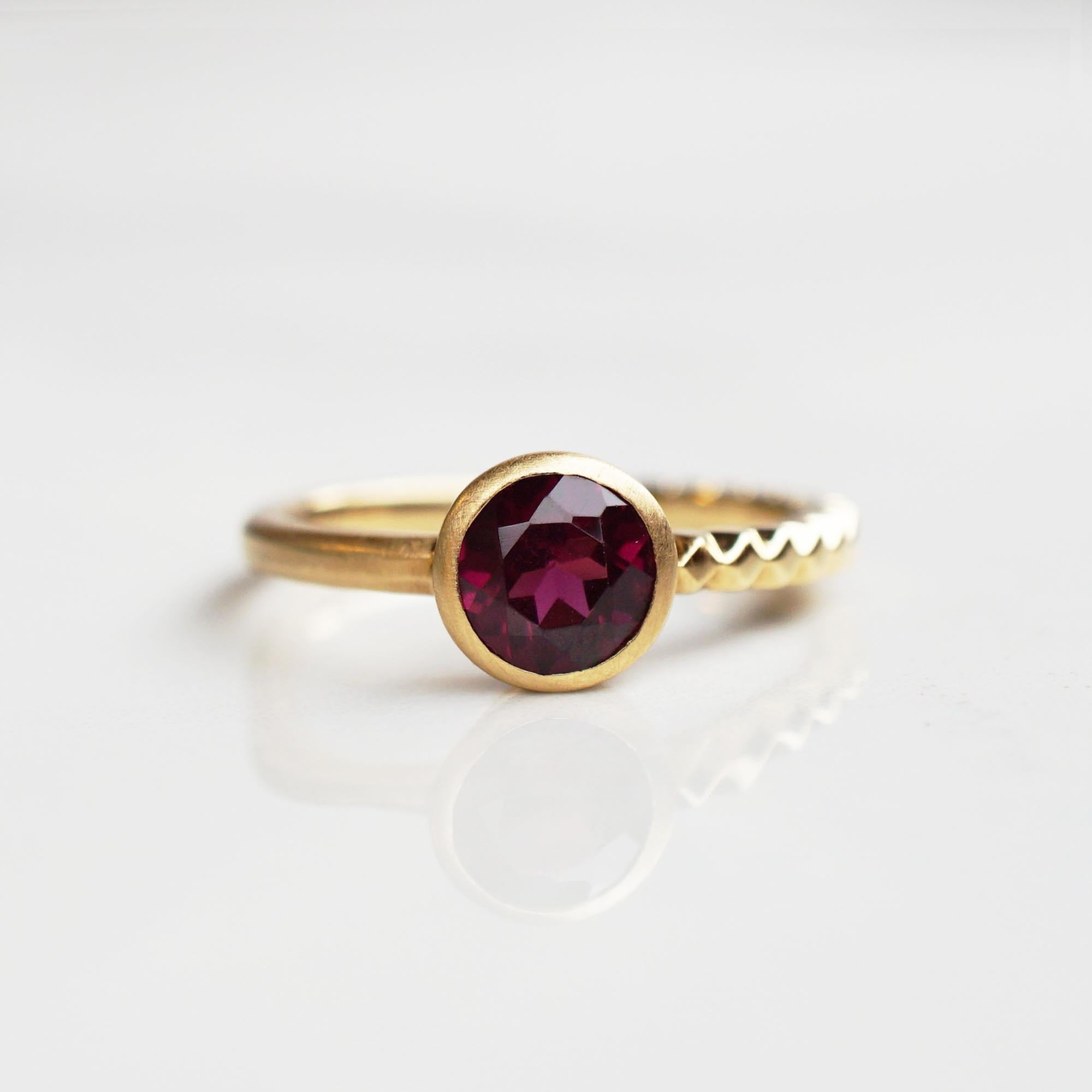 Rhodolite Garnet Ring(R191-RG)