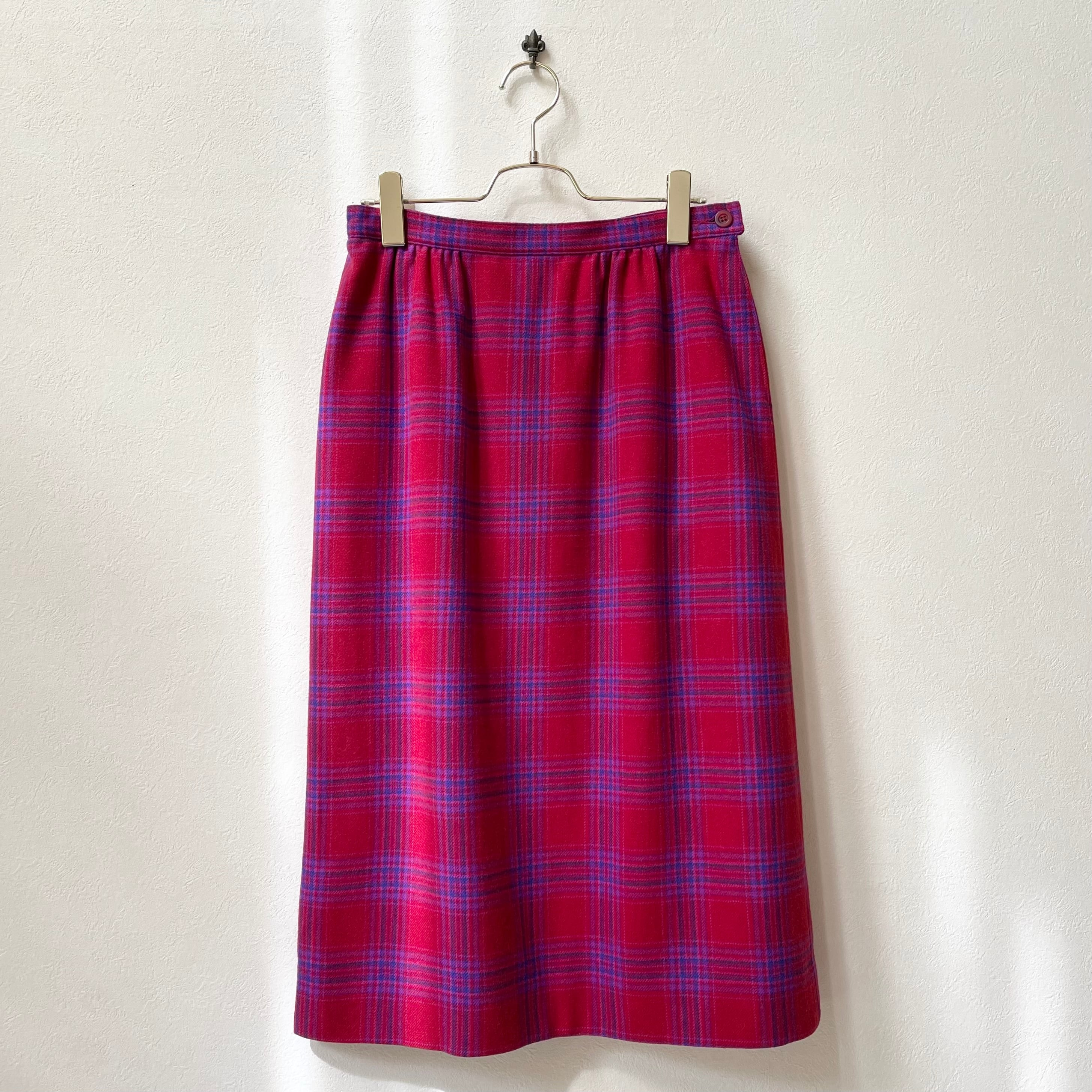 ペンドルトン PENDLETON チェック柄スカート 70〜80年代  USA製 ヴィンテージ 古着 日本L