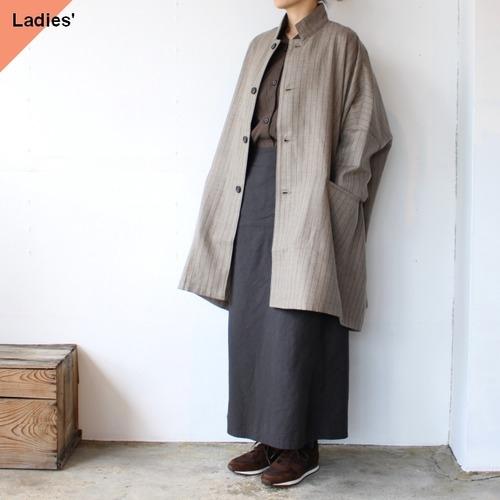 SETTO セット MARKET JKT ウールストライプマーケットジャケット STL-JK0087 ブラウン