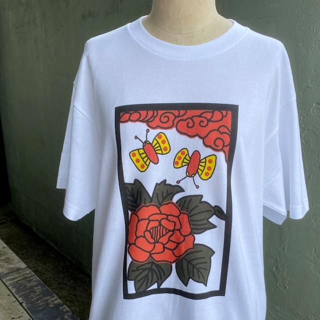 【巨匠動物園】花札チョウTシャツ