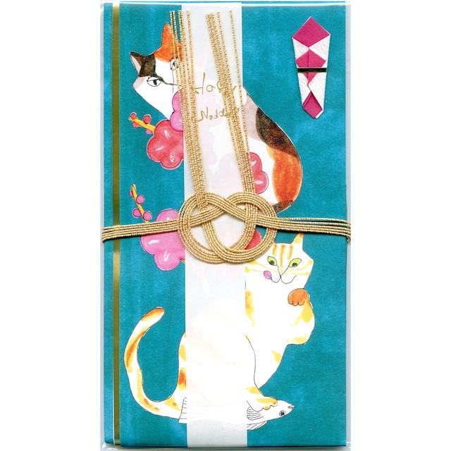 猫祝儀袋(金封)梅ネコ