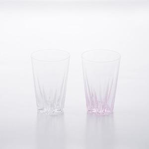 SAKURASAKU glass (サクラサクグラス) Tumbler(タンブラー)【紅白】ペアセット 木箱入り