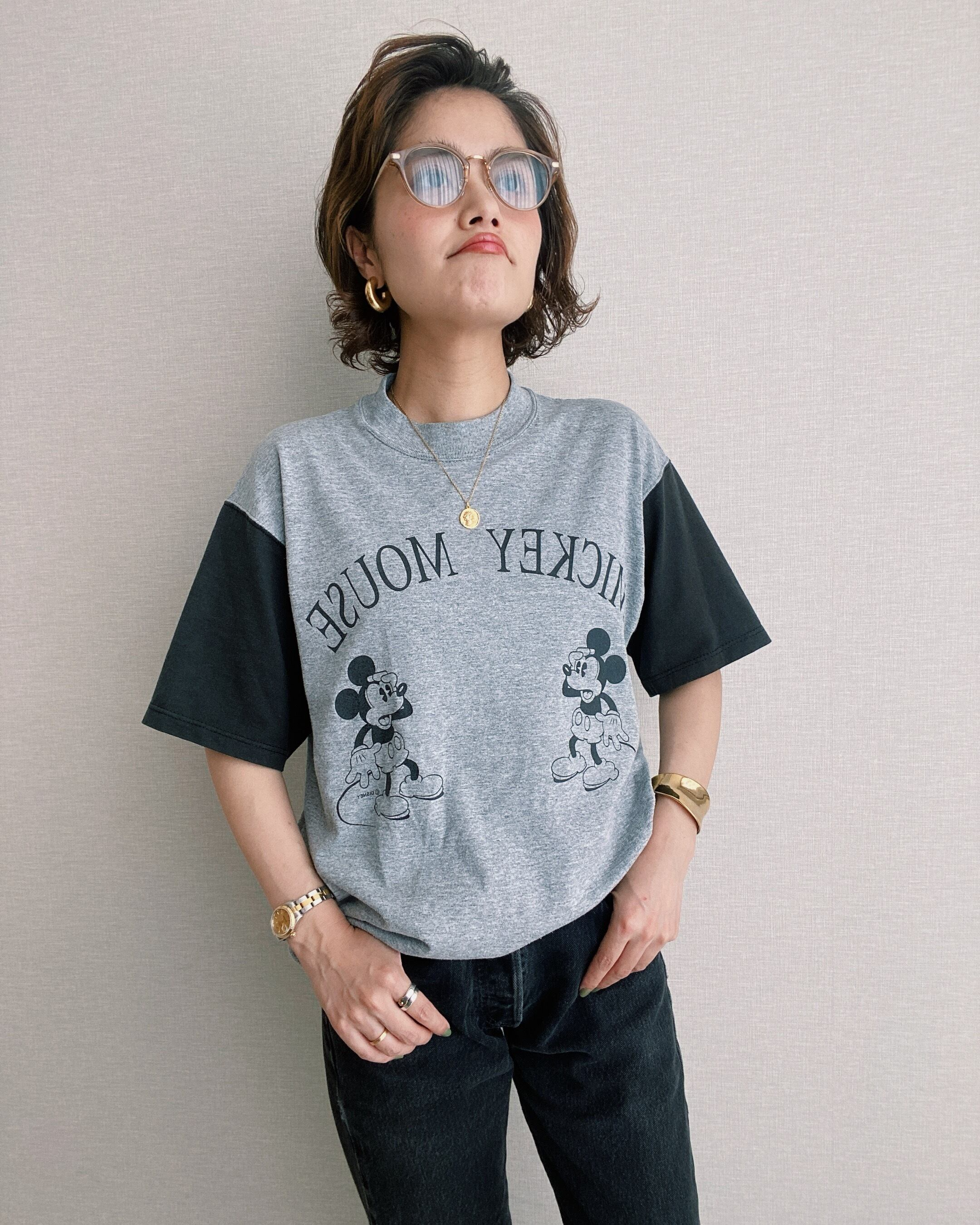 (CS231)Mickey t-shirt made in USA