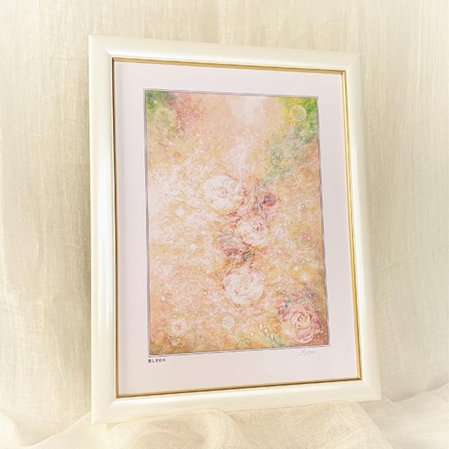 風水画 ヒーリングアート 薔薇の花の絵画 「愛しき日々」太子額