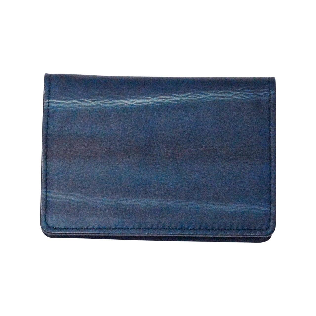 indigo   名刺入れ  shibori・ 藍絞り(Tie-dye)