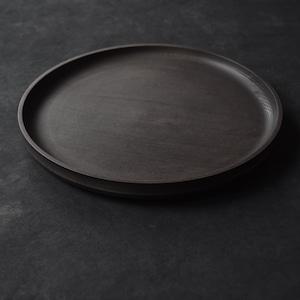 北山栄太 Eita Kitayama  メープル9寸盆 ザクロ B (草木染+鉄媒染+ガラスコーティング)