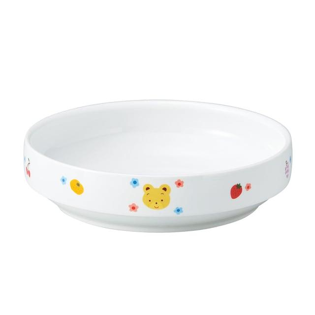 強化磁器 17cm すくいやすい食器 フルーツべあ【1715-1280】