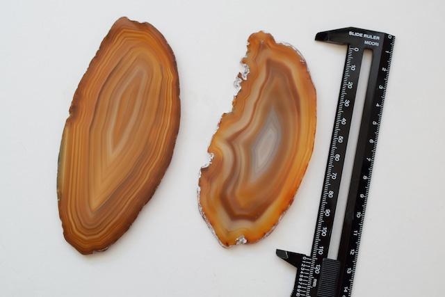 Big Size Agate slice  -Amber-/ビッグサイズ アゲートスライス アンバー